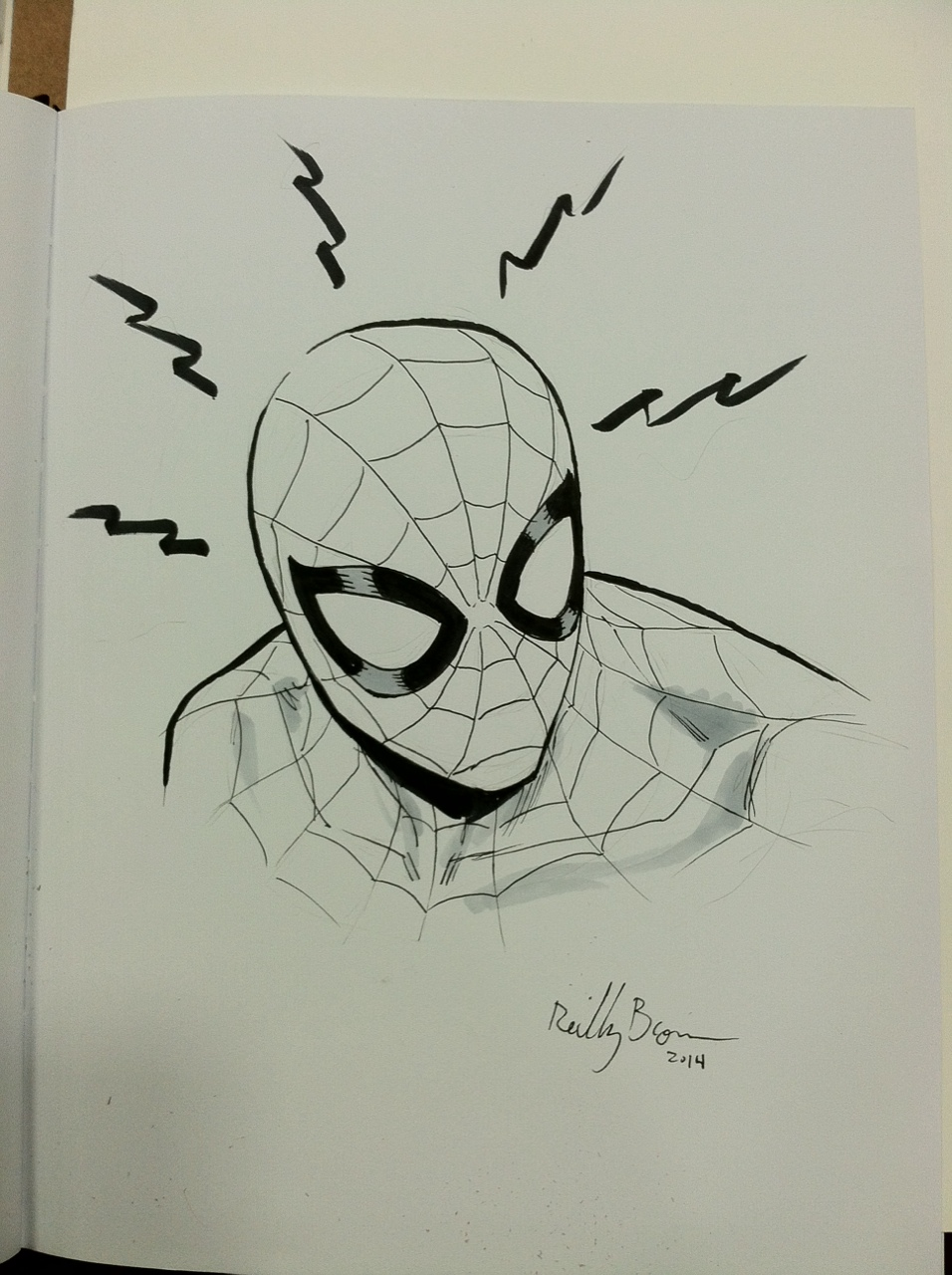 Spider-Man sketch from SDCC