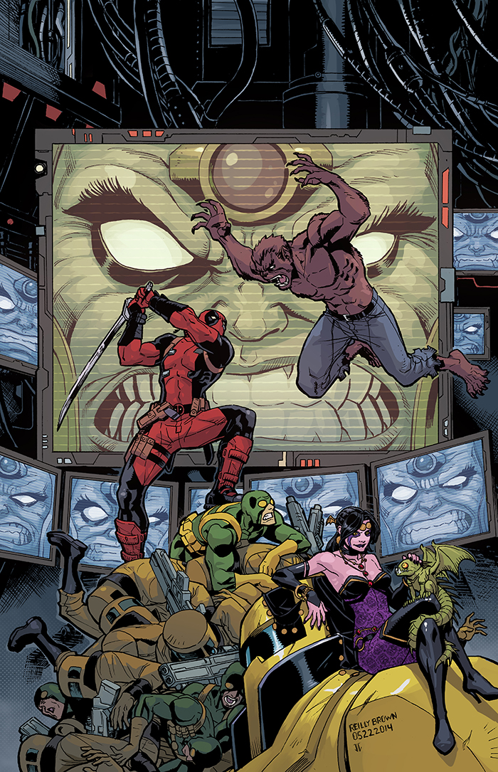 Here's a look at the cover of Deadpool: Dracula's Gauntlet #4, on sale next week! Also, just a reminder, there's still space in my Intro to Comic Book Art online class I'll be teaching through Comics Experience.  Classes are Monday nights, starting August 4th, from 9-11pm. For those interested, there's more info on the site here.