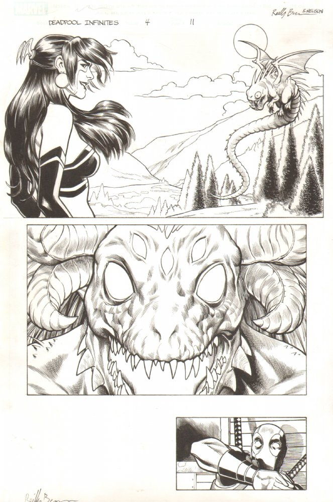 Original artwork from today's issue 2 of Deadpool: Dracula's Gauntlet is available at Anthony Snider's Comic Book Art.