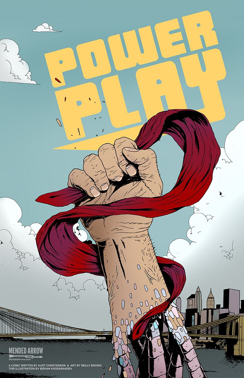 "mendedarrow :     Power Play pin-up playing around with Reilly Brown and Kurt Christenson's comic. It's a brilliant comic. ""Underground superpowered street games spanning all across the five boroughs of New York.""   If I had super powers when I was a teen, I would have totally showed off in a series of competitions before saving people.    You can learn more about the comic here:  http://powerplaycomic.com/    You can find more of my work here:  www.mendedarrow.com    @reillybrown @kurtchristenson  powerplaycomic      Bizahn is awesome.  You guys have got to check out his (award winning) stuff."