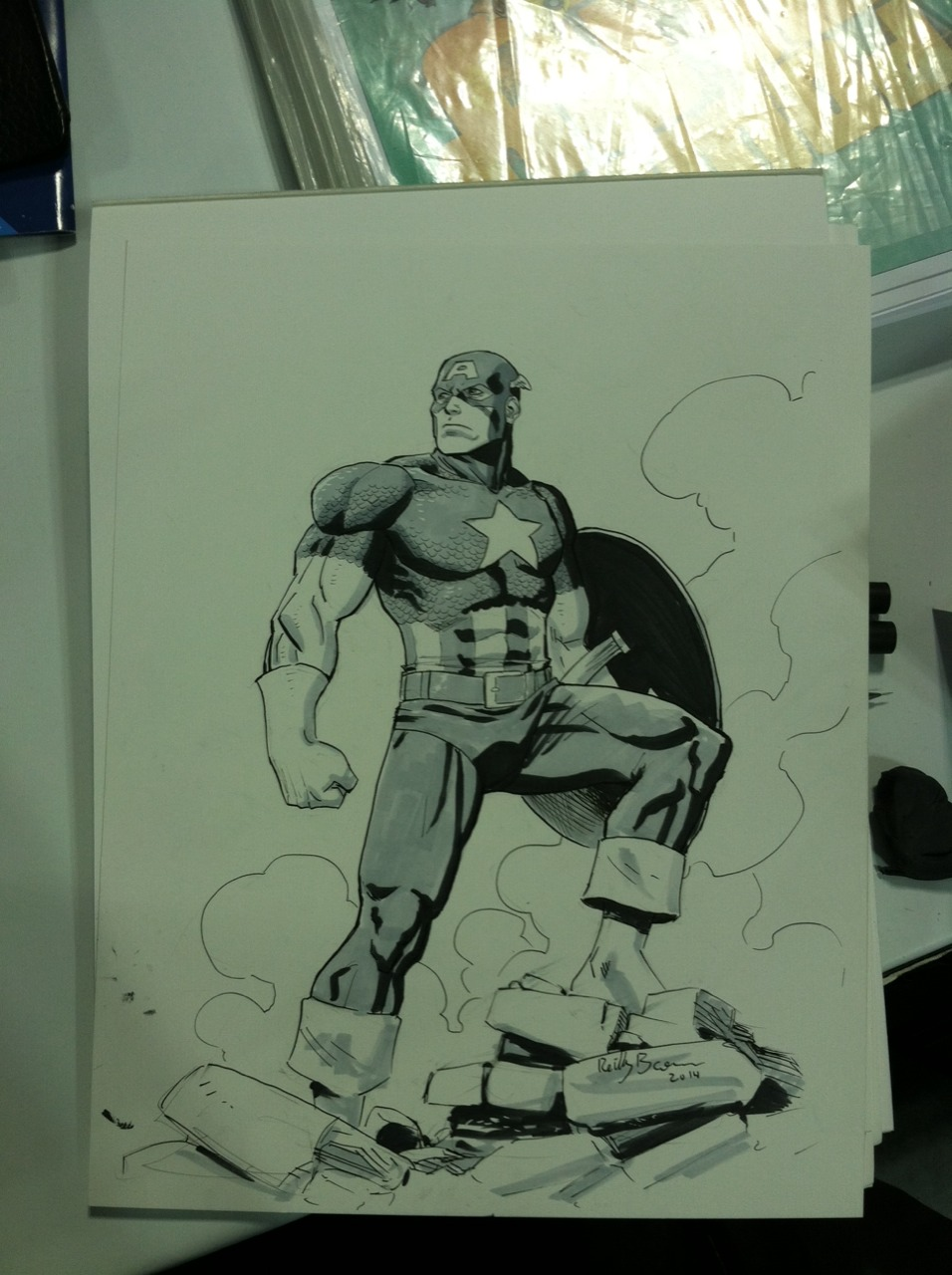 Captain America commission from Special Edition NYC.