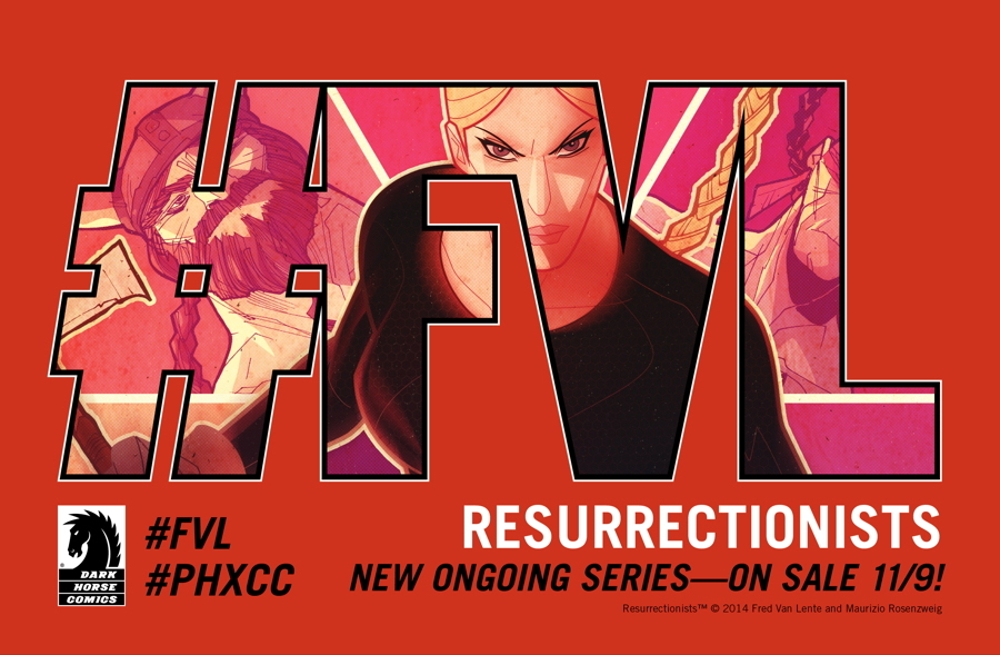 Fred's got a new series that you guys have got to check out!     pizza-party :     Announcing…      RESURRECTIONISTS!       The new creator-owned ongoing series from Fred Van Lente, Maurizio Resonzweig, and Moreno Dinisio with covers by Juan Doe and lettering by Nate Piekos of BLAMBOT®!   Get ready!   And follow the team on tumblr…  fredvanlente ,  mauriziorosenzweig , and  morenodinisio ! #FVL