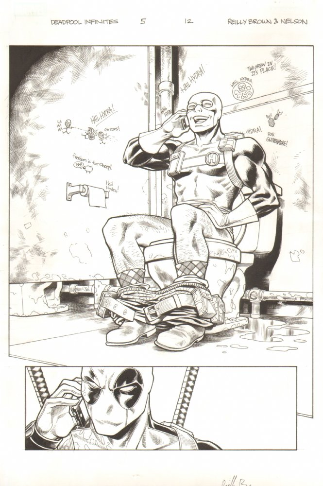 Check out the recent update of original comic art on my page at Anthony's Comic Book Art.  Lot's of new stuff there from my recent Deadpool series, The Gauntlet, as well as pages from other series that I've worked on in the past that have never been available for sale before.  Go check em out to see my art in it's original black and white glory!