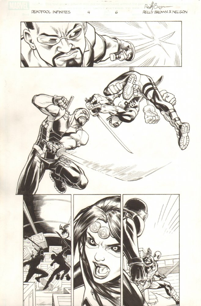 There's a whole bunch of original art from Deadpool: The Gauntlet for sale at my art dealer's site– Anthony's Comic Book Art.