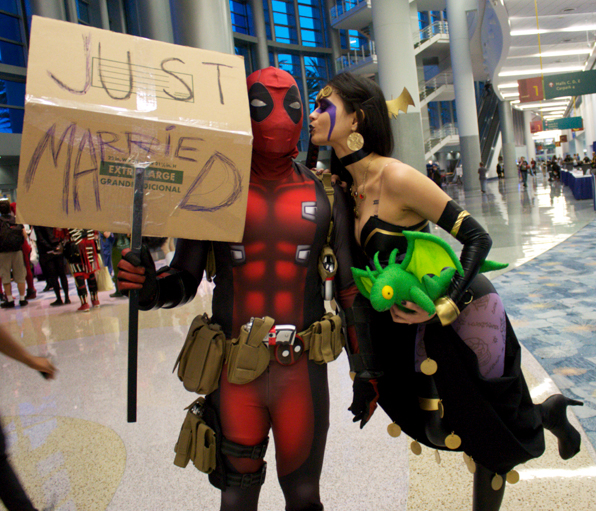Awesome pic!  I wish I could have made it to Wonder Con for all the Deadpool wedding festivities!    dpiddy-mercwiththemoves :     Me and Jenki at WonderCon :)    https://www.youtube.com/watch?v=z8EhgKZfFNE