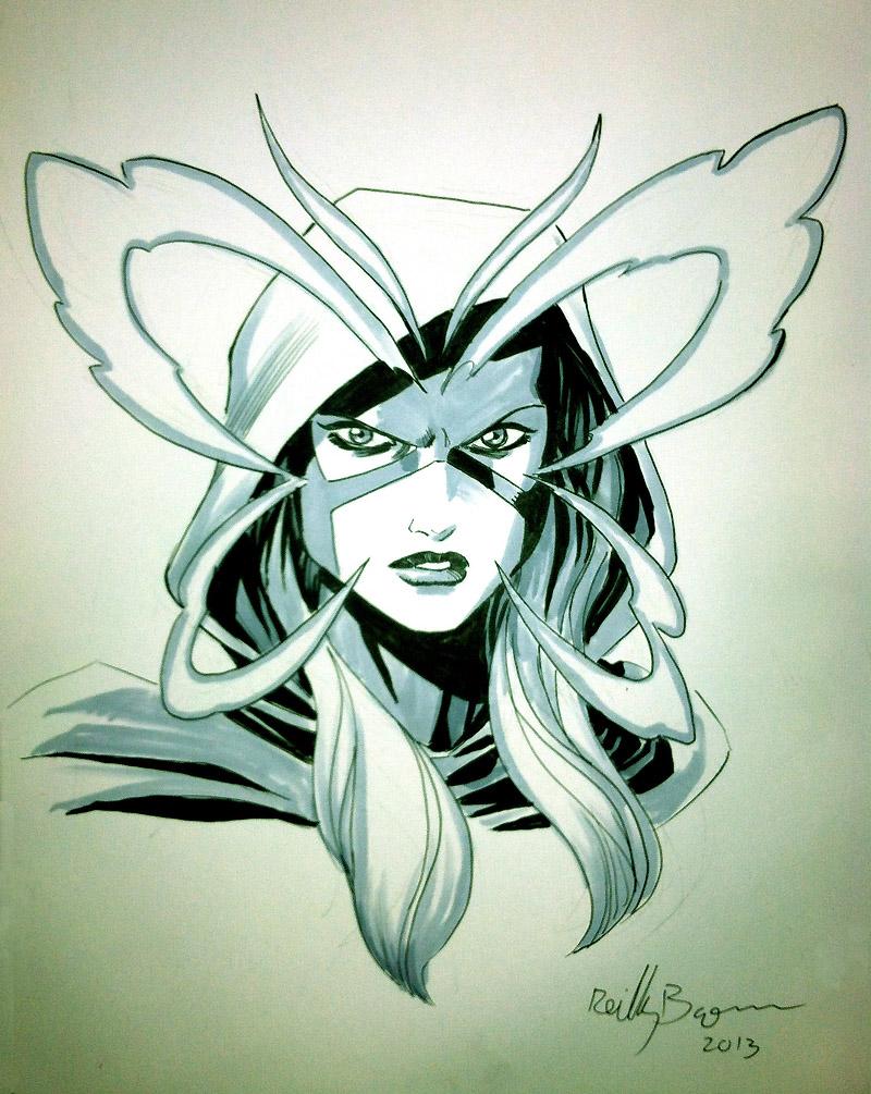 Psylocke con sketch.