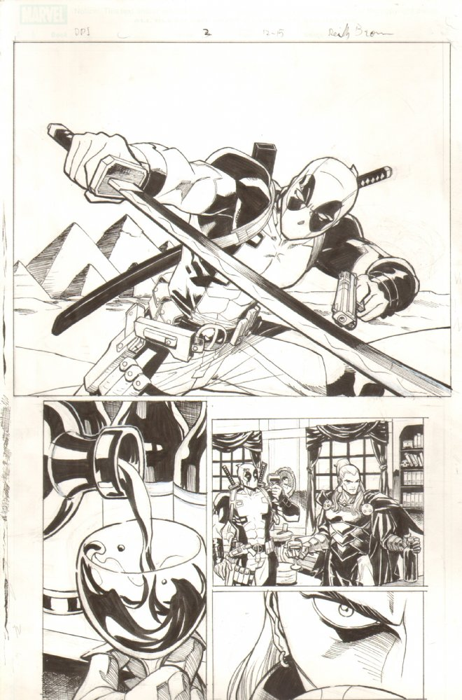 Original art from Deadpool: The Gauntlet for sale!   Finally starting to put these pages up.  Check out the first bunch at  Anthony Snider's Comic Art .  A lot more to come in the future!