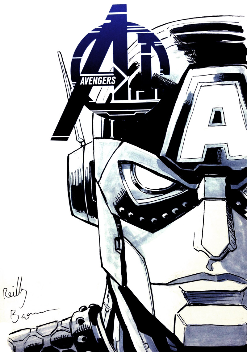 This was one of the more interesting commissions I got last year– Captain America as a Transformer.