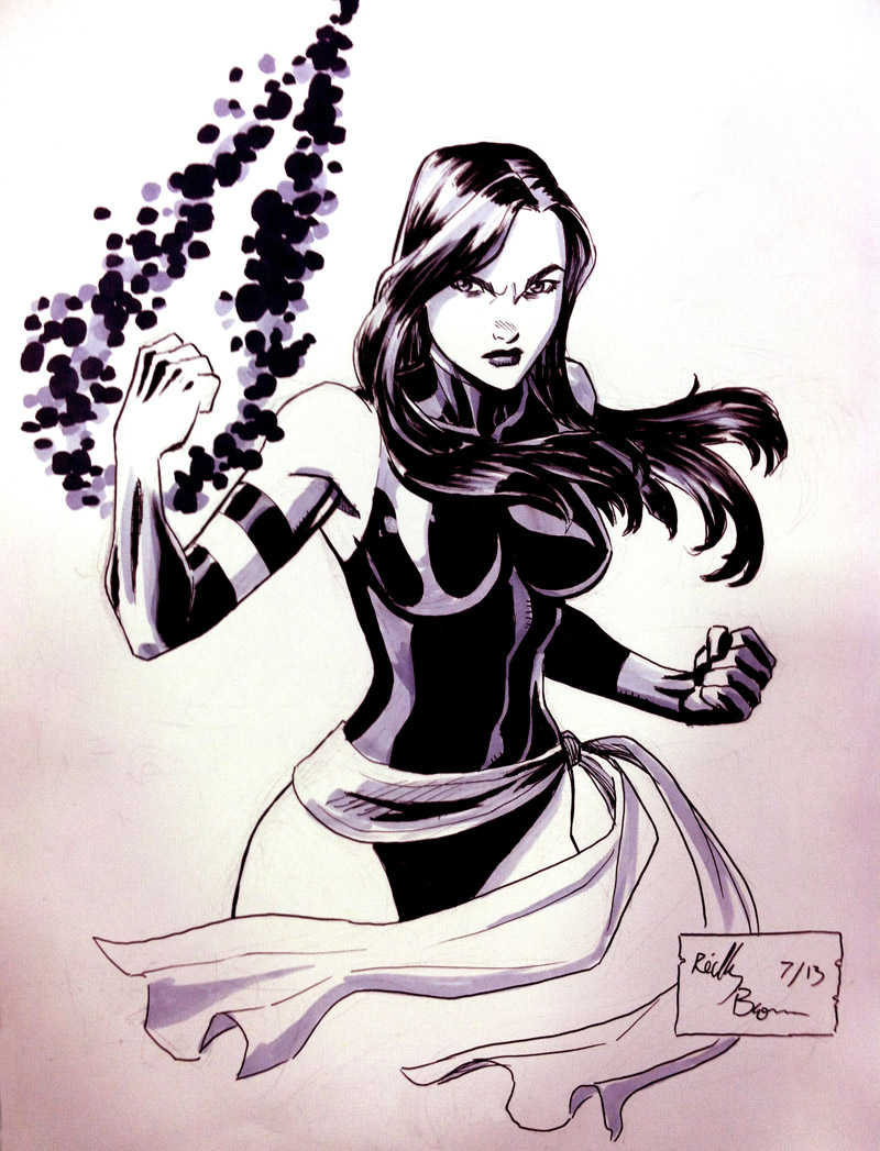 Found this Psylocke commission I did at a con last year.  Thought you guys would like it.