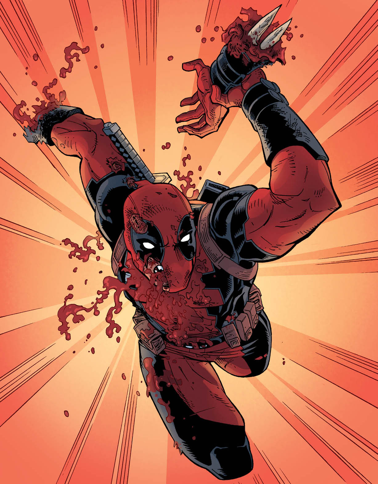 Deadpool: Armed and dangerous.   From the final ish of  Deadpool: The Gauntlet.