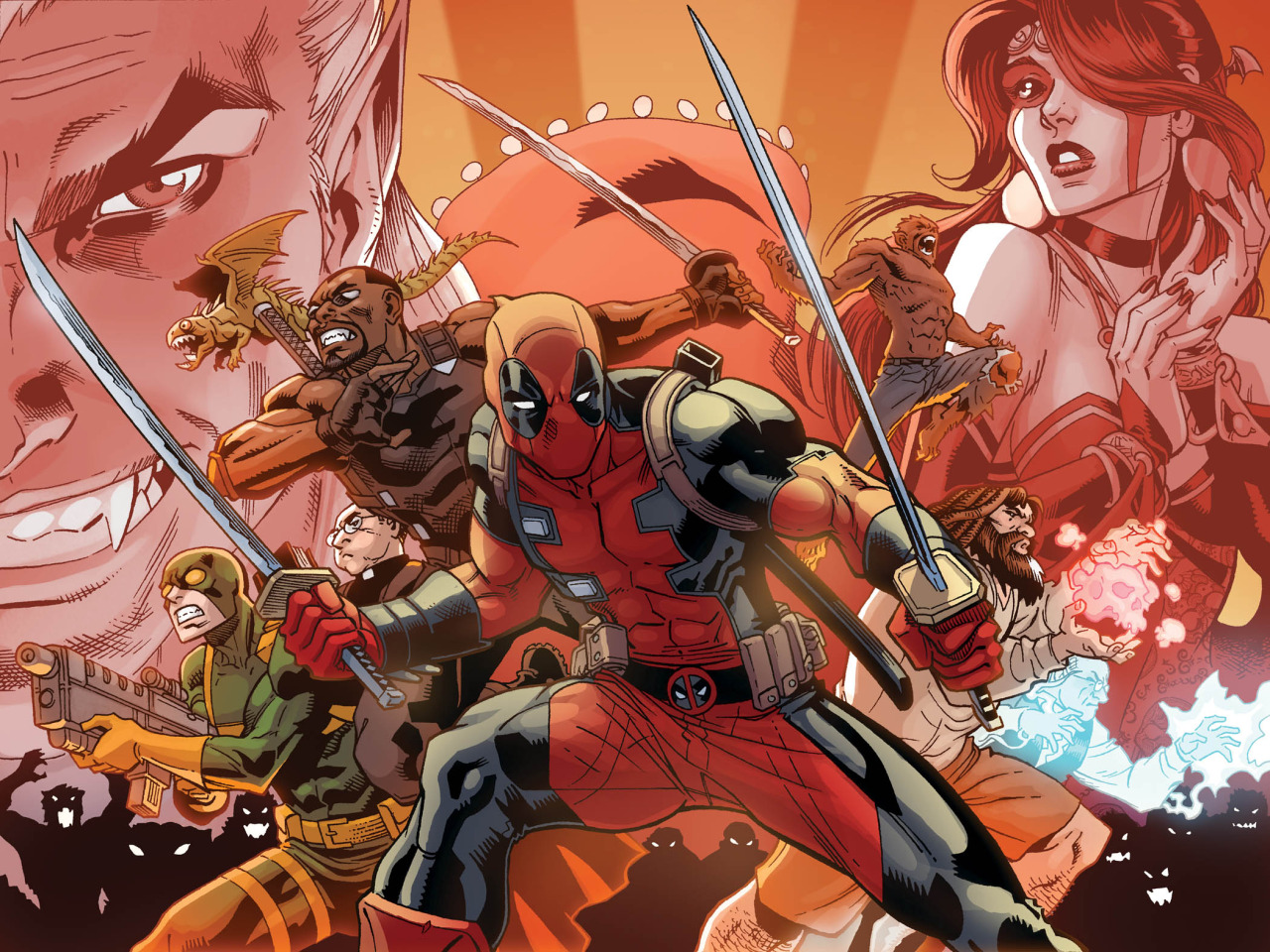 Vampires, succubuses, monsters, werewolves, and, of course Deadpool!  Tomorrow's the day!  Check out Comixology for the final chapter of  Deadpool: The Gauntlet!