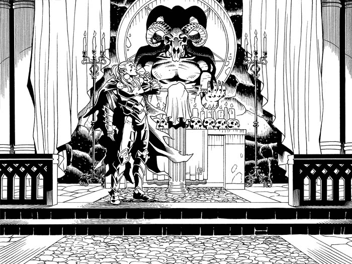 Dracula at the altar.  From this week's  Deadpool: The Gauntlet #11