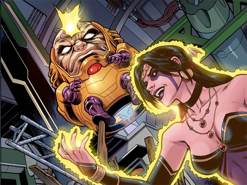 Enter: MODOK!  From Deadpool: The Gauntlet #7, out earlier this week– http://www.comixology.com/Deadpool-The-Gauntlet-Infinite-Comic-7/digital-comic/76579