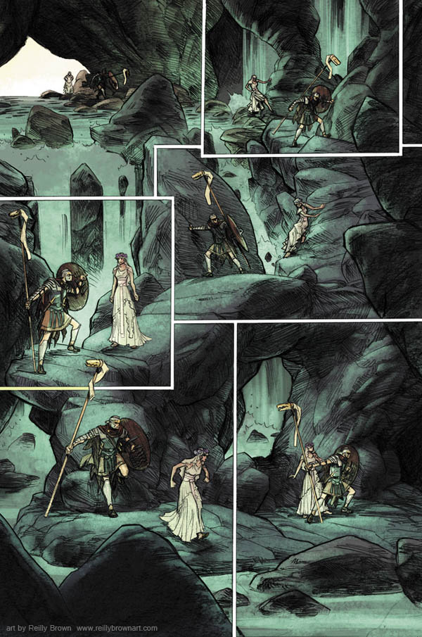 "Some great reviews for last month's DARK HORSE PRESENTS #32– ""The story that caught my eye, the one I fell in love with, is Fred Van Lente and Reilly Brown's ""Saint George Dragonslayer: Part Three."""" – Pixelated Geek ""St. George, Dragonslayer Part Three wins for the best artwork"" – Unleash the Fanboy The fourth part of our SAINT GEORGE story comes out in DHP #33, written by Fred Van Lente, Drawn by yours truly, and colored by Jeremy Colwell.  Hopefully we can keep the great reviews coming in!"