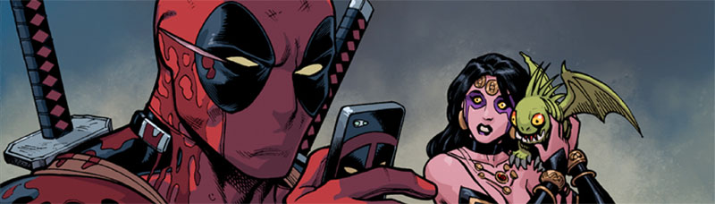 "I've got to say, I've really been blown away by the support I've been getting, along with, Gerry, Brian and the gang, for Deadpool: The Gauntlet. People really seem to like what we're doing, and where the story's heading, and they really seem to be responding to the digital format that we've been using here. In fact, the ONLY negative things I've seen about this comic come from people who haven't even read it– usually because they're upset that it's not a traditional print comic. I know, I know, comics fans upset by something new? Who could have guessed? Ever since I started working on POWER PLAY, one of the things I've been hearing A LOT is from people who said that they didn't like reading comics digitally until they read my stuff and finally saw what the digital platform could really add– it's not a gimmick, it's not bells and wistles, it's a new way of telling a story.  This continues to be the case with THE GAUNTLET. One of the things I see the most in reviews, and one of the things that I take the most pride in, is people saying that they never thought much of digital comics until they read this series. People like it. People who didn't think they'd like it realize that they do. So, if you're one of those people who ""don't like reading things digitally,"" ""prefer a comic you can hold in your hand,"" ""think it's just a gimmick,"" whatever the excuse, just give it a try. Marvel couldn't have made it easier for you, because they gave the first issue away as a free download for anyone who picked up the (also free) print version of the comic. You literally have nothing to lose. If you can't track one of those down, at least check out this free preview of Power Play– http://www.comixology.com/Power-Play-0/digital-comic/12727 . I've learned a lot since doing that first issue, but it will at least give you a taste. So don't be afraid– no one's going to hurt you! Give yourself the chance to add one more thing to the list of stuff that you like, and cross one more thing off the list of stuff that you don't. Enjoy! After all, that's what comics are all about! http://www.comixology.com/Deadpool-The-Gauntlet-Infinite-Comic/comics-series/14912"