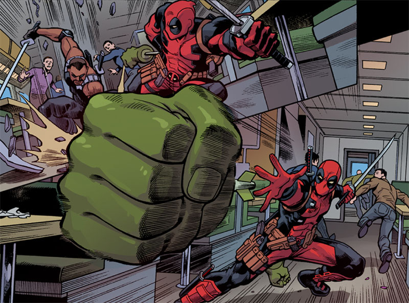 Check out  this CBR interview  where @GerryDuggan talks about a variety of Deadpool related topics– especially The Gauntlet!  (Also some great preview art from Mike Hawthorne!)