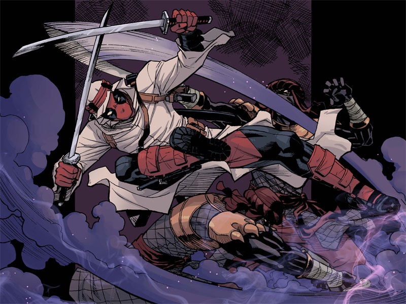 Here's a peek at Tomorrow's second chapter of  DEADPOOL: THE GAUNTLET , featuring Deadpool.