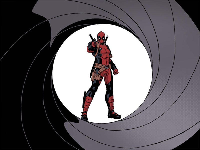 I'm blown away by all the praise the first chapter of our new Deadpool series has been getting– thank you guys so much!  The opening credit sequence in particular has been getting a lot of attention, which is a bit that I'm particularly proud of, as it really shows off some things that a digital comic can do that can't be done in print.  That's not a knock against print, but it just goes to show that when you're true to the medium that you're working in, you can really do some incredible things. So thanks again guys!  The next chapter will be out tomorrow right here, so stay tuned, because the best is yet to come!