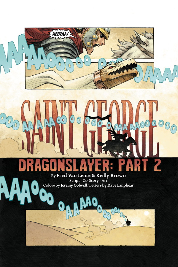 Here's a preview page from the second chapter of SAINT GEORGE, on sale this Wednesday!