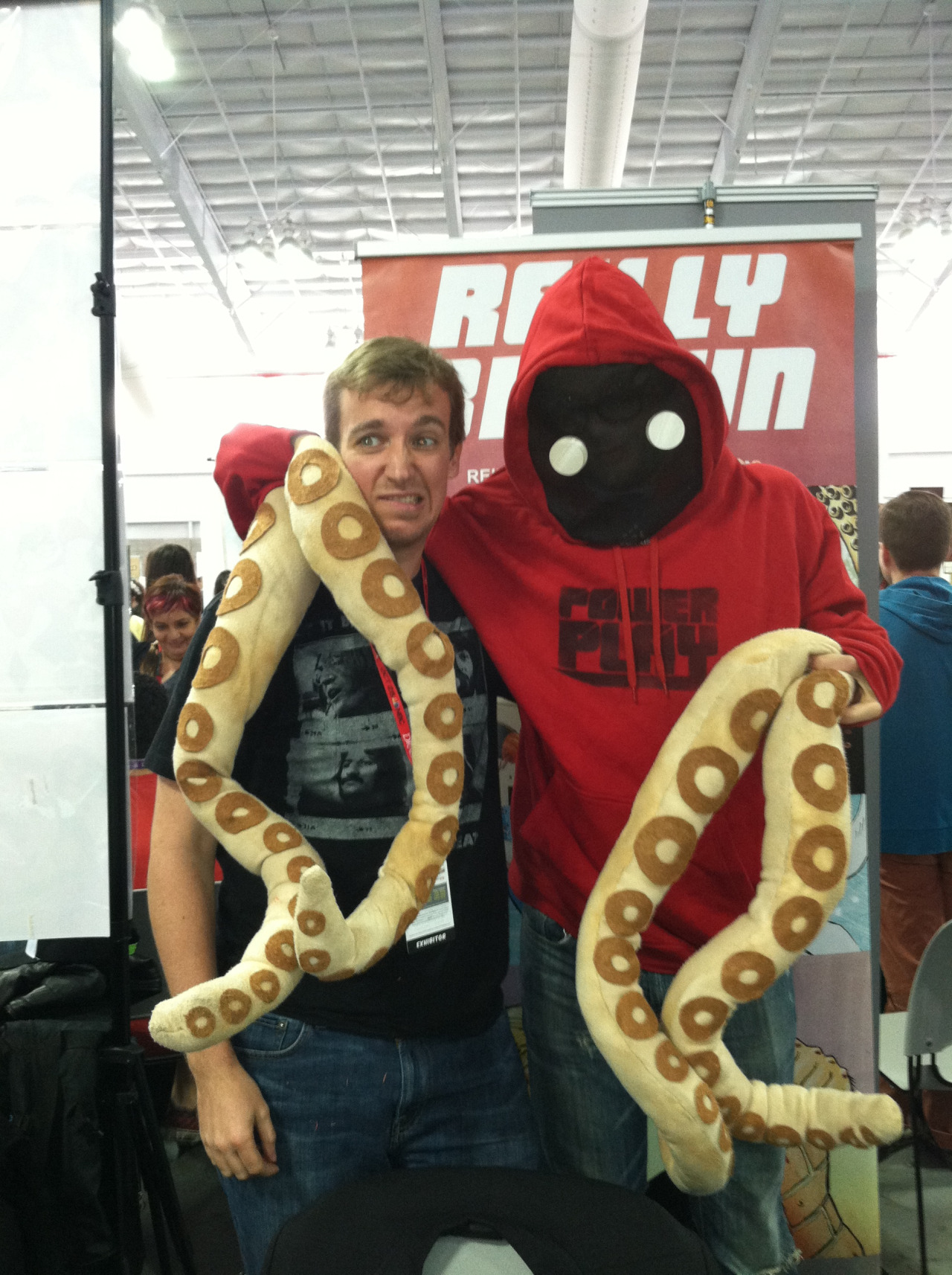 Me and Gowanus Pete, from my comic Power Play at my booth at NYCC.