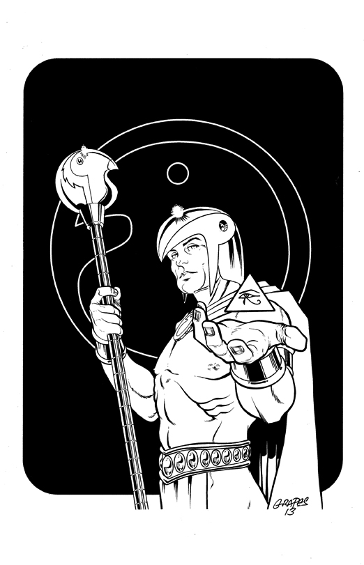 Grapes rocks!    tenton :     Horus by WJ Grapes [ Image 1963 ]   via  Sketch Challenge 8.34-Image's 1963: WJ GRAPES WINS!