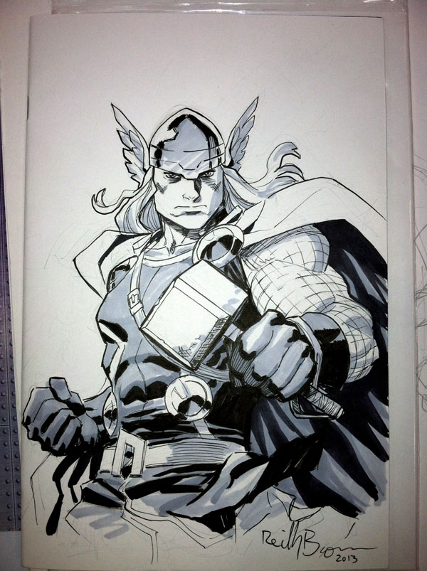 Here's a pic of Thor I drew back in San Diego.  My next convention appearance is in Baltimore next weekend!  Look for me hanging out with Dean Haspiel and the gang in Artist's Alley!