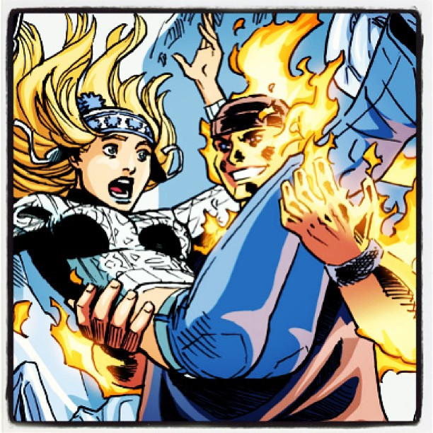 Ice Queen gets Mac Washington all fired up in @PowerPlayComic #digitalcomics #Queens #NYC @NYU (at Gowanus) Get it here– http://www.comixology.com/search?search=power+play