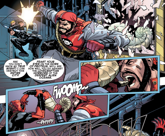 uncannypanels :      A+X  #8 by Christopher Hastings and Reilly Brown     Deadpool saves the day again!