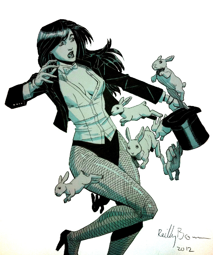Here's a sketch of Zatanna, DC's resident magician.
