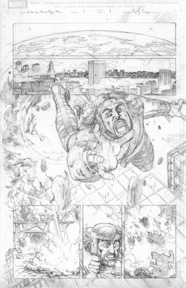 Here's a page from my run on Incredible Hercules, one of my favorite series. This page is actually available for sale at my art dealer's site here– http://www.anthonyscomicbookart.com/ArtistGalleryRoom.asp?ArtistId=1172 Anthony will be at C2E2 this weekend selling pages, so it's the perfect place to check out some original art boards first hand! I'll also be at C2E2 in person in Artist's Alley at table S2. Hope to see you there!