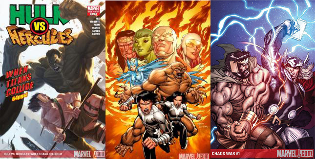 Marvel is offering  700  free issue #1s through the Comixology app until Tuesday– pretty slick! Even more slick, three of those issues feature work by ME! Check out Hulk vs Hercules #1, Chaos War: Alpha Flight #1, and Chaos War #1. For free! You have literally nothing to lose!   More info here–  http://www.comixology.com/Marvel-Free-First-Issues/comics-collection/1001