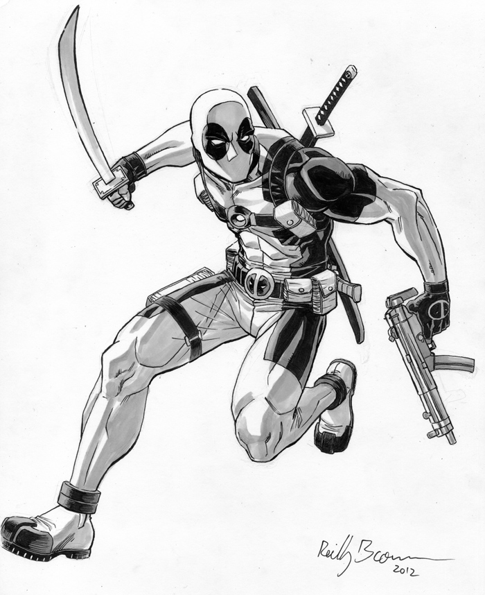 A+X=DEADPOOL! I get so many Deadpool requests at comic conventions, sometimes it makes me miss drawing the little bastard in a book. Wouldn't it be cool if Marvel put me on a Deadpool comic again? Eh, I don't know, I wouldn't really bother unless they teamed me up with an awesome, and/or hilarious writer, like that dude who draws Dr. McNinja, Chris Hastings. That would be pretty cool. Ah well, it's a nice dream… Wait, what's that? They're DOING IT?! HELLS YEAH! Check out May's solicitations– BOOM! A+X #8 NATHAN EDMONDSON & CHRIS HASTINGS (W) HUMBERTO RAMOS & REILLY BROWN (A) Cover by HUMBERTO RAMOS • Captain America and Wolverine fight a villain unlike any you've ever seen! • Deadpool and Hawkeye do not see eye-to-eye! 32 PGS./Rated T …$3.99 Oh yeah, Hawkeye's in it too.  He shoots arrows. Pick that shit up, yo!