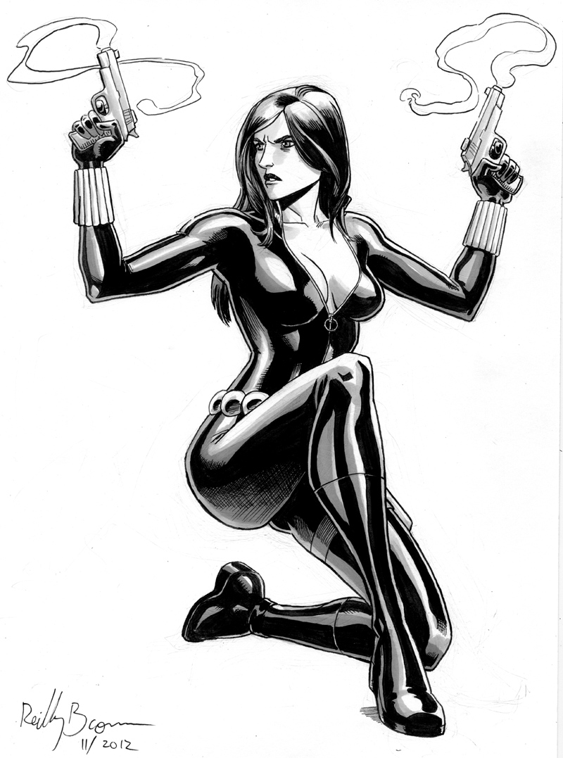 The Avengers sexy super-spy, Black Widow.