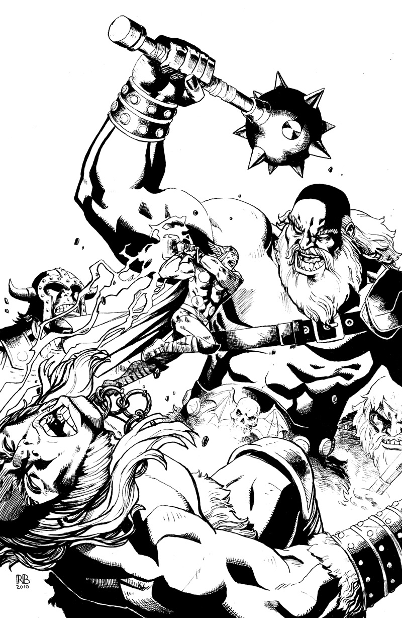Here's a cover I did of Thor fighting some Frost Giants. It's always a great visual to have the tiny little god of thunder beating on these titans. A lot of fun to draw! The original artwork is on sale at my art dealer's site here— http://www.anthonyscomicbookart.com/ArtistGalleryRoom.asp?ArtistId=1172