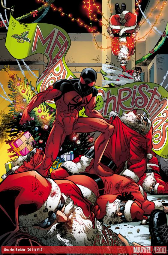 It's 12:12 on 12/12/12 and Scarlet Spider #12 is out today!  Jolly ol' Kaine is getting into that holiday spirit!  Come on by Jim Hanley's Universe in NYC this evening at 7pm where I'll be hanging out and signing a few comics, and maybe even doing a few sketches.  See you guys there!  http://www.facebook.com/events/302698656514759/