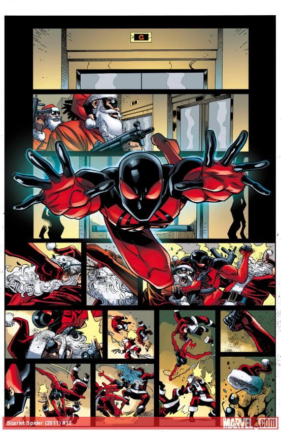 Check out my preview art from Scarlet Spider #12, along with a Q and A by the series excellent writer, Chris Yost–  http://marvel.com/news/story/19703/tuesday_qa_chris_yost    Kaine's a guy who knows how to celebrate the holidays right!
