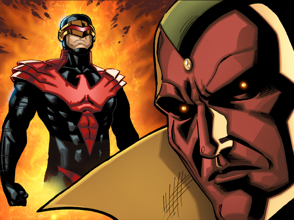 Here's another pic from AvX Infinite #3, which went on sale yesterday on Comixology, and you can download directly to your home computer and/or iPhone/pod/pad or Kindle or Android device here–  http://www.comixology.com/Avengers-vs-X-Men-10-Infinite/digital-comic/ICO003802   How's that for instant gratification?   The story is written by Mark Waid and Yves Bigerel, with art by me and Marte Gracia.   This comic is done in a way made specifically for reading comics digitally, and it's cool to be able to experiment with a bunch of new storytelling techniques that aren't even possible in print.  Check it out and let me know what you think!   If you like it, I do a similar thing in my creator-owned series Power Play, which is also on Comixology–  http://www.comixology.com/Power-Play-0/digital-comic/12727