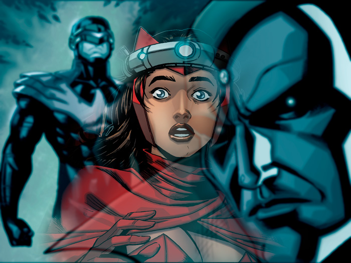 Scarlet Witch, Vision and Cyclops. Here's another panel from me Mark Waid and Balak's AvX Infinite comic on sale today on Comixology!  Check it out here– http://www.comixology.com/Avengers-vs-X-Men-10-Infinite/digital-comic/ICO003802 It's cool to work with Marvel on this exciting experiment in digital comics, similar to my creator-owned book Power Play, which you can also check out here– http://www.comixology.com/Power-Play-0/digital-comic/12727