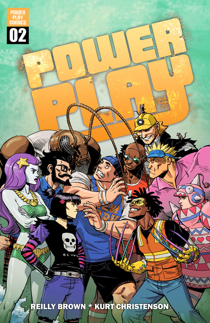 Here's a peek at the cover of Power Play #2! Check out Power Play on Comixology here– http://www.comixology.com/Power-Play-0/digital-comic/12727 And speaking of Comixology, today I'll be at the panel at SDCC from 2-3 in room 11AB.  You won't want to miss it!