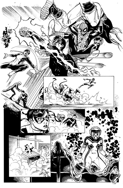 The fundraiser for my college professor, Kerry Talbot's, cancer treatment went really well on Monday, thanks to everyone who showed up! The online auction is still going on for my my two piece or comic artwork, so please check them out! X-Men– http://tinyurl.com/ceo2vwj Spider-Man– http://tinyurl.com/dy3vrwr