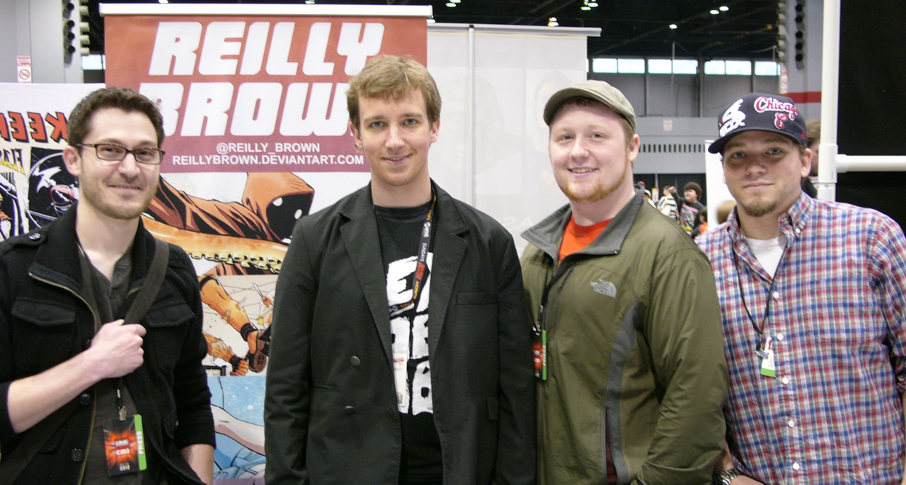 Great interview, guys!  And don't forget that you can check out the first issue of Power Play here– https://comics.comixology.com/issue/15163/Power-Play-1 powerplaycomic: Progressively Aggressive Sit Down w/Marvel's Reilly Brown C2E2 PA: You've done a plethora of work for Marvel including the Marvel Holiday Special in 2005, Marvel Apes: The Amazing Spider-Monkey #1, Hercules: Fall of an Avenger, just tons of [work]. What's your personal favorite book to work on? RB: My two favorite things I've worked on were the Cable and Deadpool stuff and the Incredible Hercules story. Particularly the Thorcules story where [Hercules] dresses up as Thor to woo an Asgardian Elf Princess, giving Thor a bad name in the process. Thor catches wind of this, isn't happy, dresses up like Hercules and then they fight it out as each other. It was just a fun, goofy story. Fred Van Lente and Greg Pak did an awesome job on that.