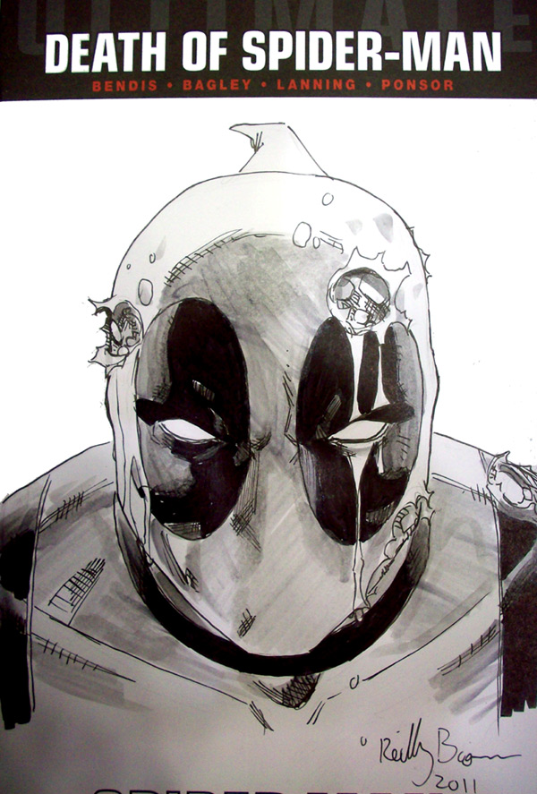 Deadpool cover sketch from Baltimore Con.