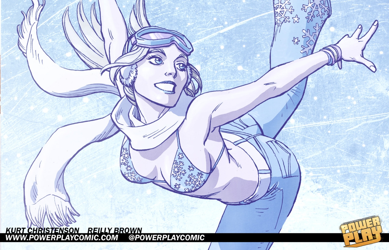 powerplaycomic: ICE QUEEN Wallpaper Meet Katerina Popovich, or as everyone else knows her, ICE QUEEN. She's as cold on the inside as she is hot on the out. She may hail from Astoria and posses mad skills on her ice skates, but it's her chilly demeanor and Olympic level trash talking that earned her the nickname Ice Queen. It's rumored that she was one of the original crew that started the Power Play League, but she doesn't talk about the past, just her future as a top tier champion! Enjoy the wallpaper above and you can buy the full picture of Ice Queen as a print, as seen at San Diego Comicon and on G4.