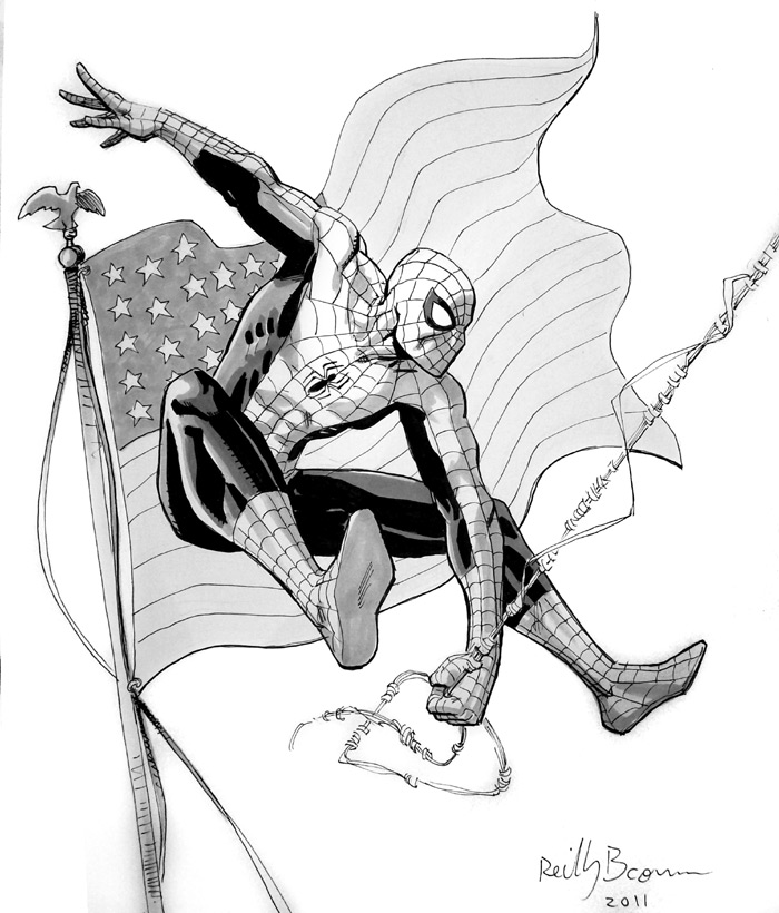 This was a sketch commission from the Philly Con.   Have a happy 4th of July weekend!