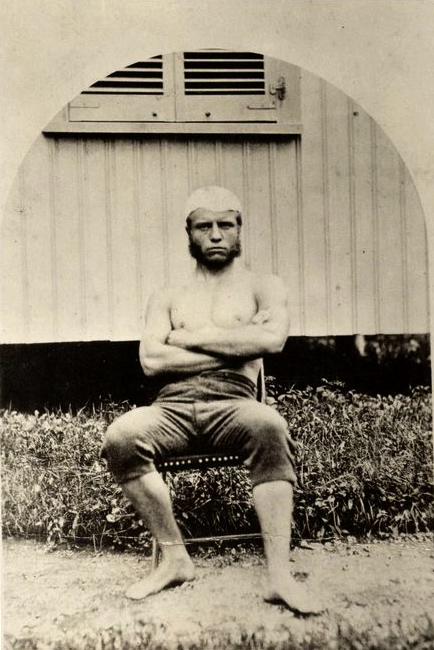 Awesome!    mydaguerreotypeboyfriend :     Young  Teddy Roosevelt  was a stone cold fox. Here he is straight from sculling practice at Harvard.     laphamsquarterly :     Theodore Roosevelt. IN SHORTS.