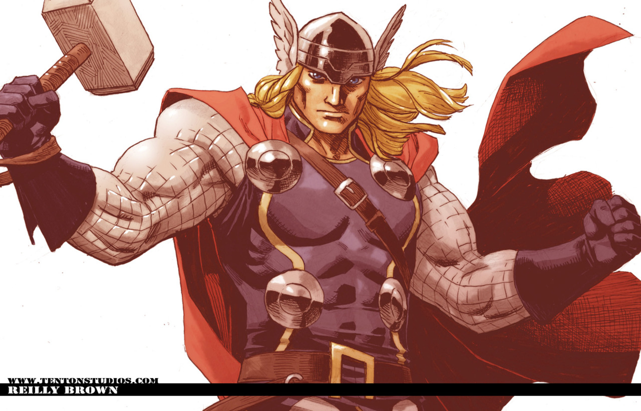 Here's a Thor Wallpaper I through together from this drawing I posted a while back–  http://fav.me/d3bm9uh    Edit: to get the full size you have to go here–  http://fav.me/d3fmniw    Who's seen the new movie yet? How cool was it to see Thor do all his classic moves on the big screen?