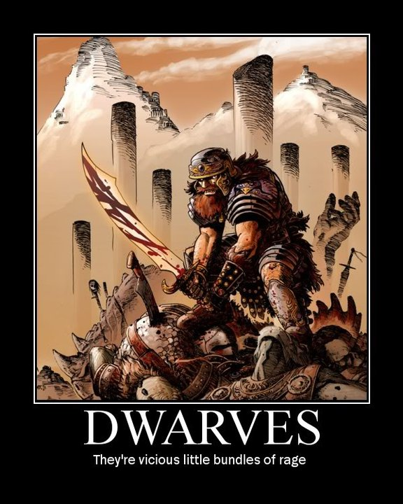 Ha!  Check out this Inspirational Dwarf Poster someone made with my art!