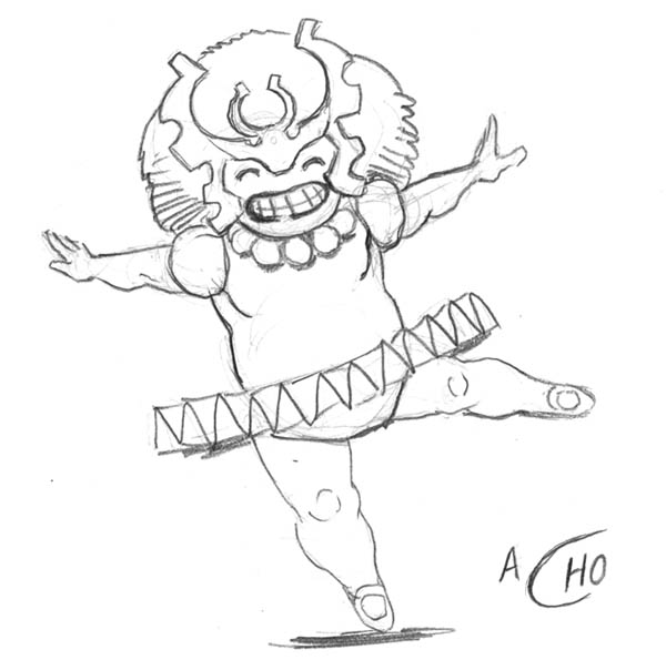Ha! Amadeus's drawing of Mikaboshi the Chaos King.   They're running a contest in Chaos War where you can submit Marvel-themed Haikus and they'll print them in the comic. check it out here–    http://www.gregpak.com/entries/002157.shtml