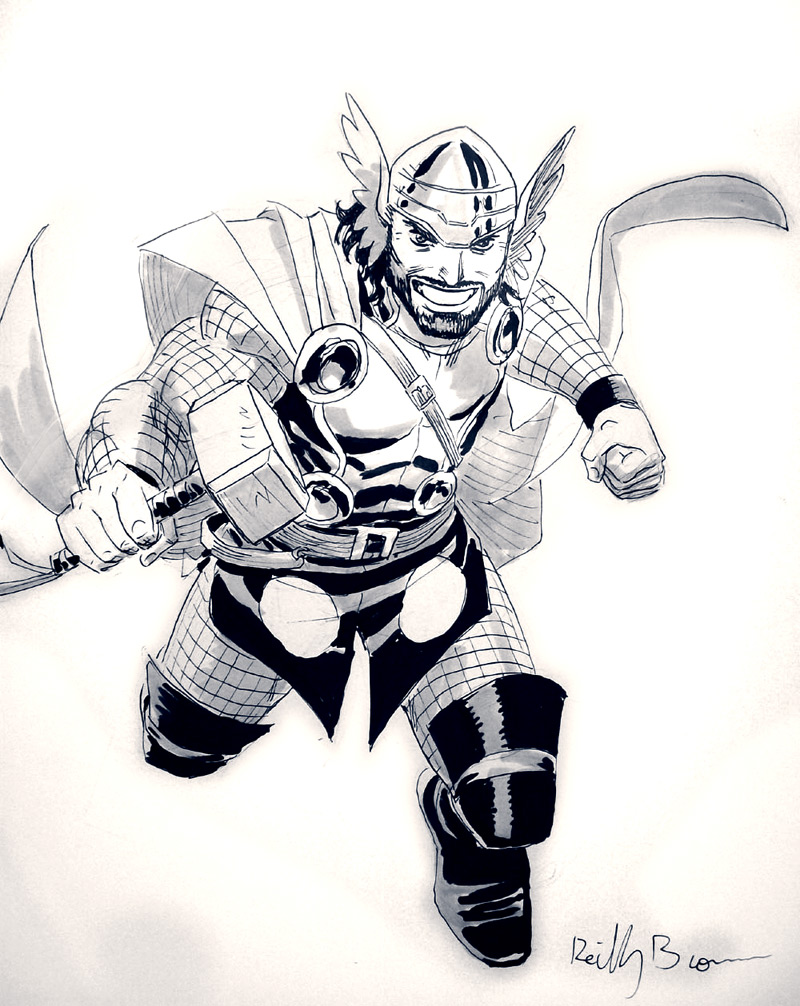 Con sketches from this summer. Hercules!  In Thor's clothes!  What the hell's wrong with you Hercules?!
