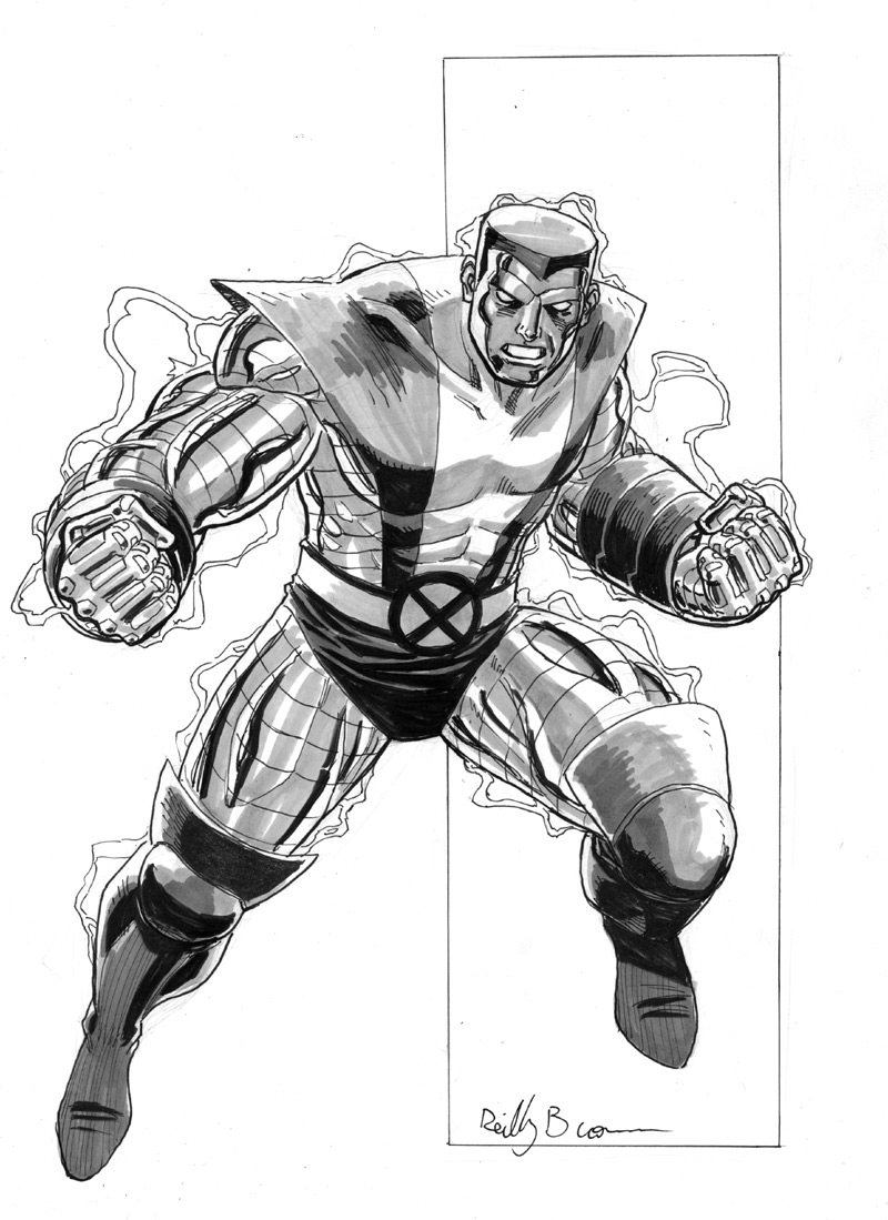 Colossus!  He's Russian, and will punch you!